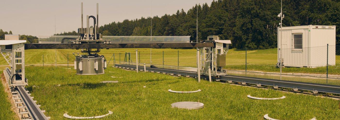 Robotized gas flux measurements at lysimeter station Fendt
